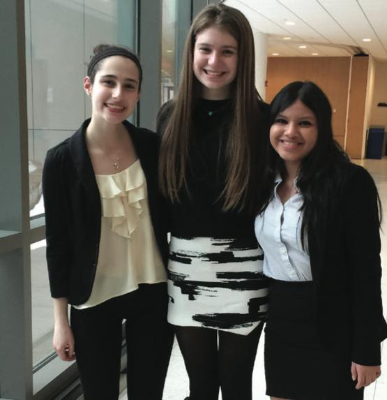 from left: Senior captains Adina Estrin, Sydney Waldman, Srishti Bose