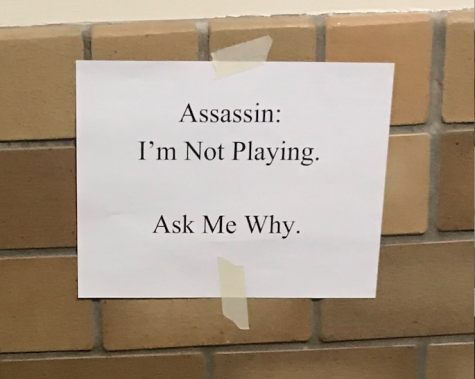 Assassin Opposers Put Up Signs, Supporters Tear Down