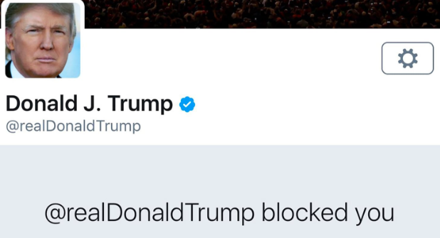 When Trump Blocks You on Twitter