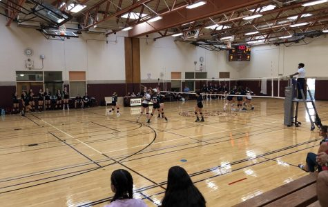 Girls' Volleyball Defeats Rival
