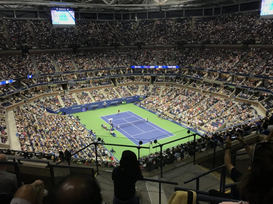 A view of the US Open at The Arthur Ashe Stadium