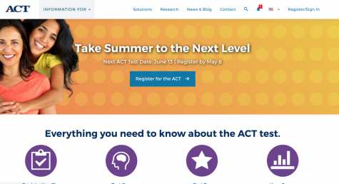 A screenshot of the ACT official website that we learn to love:)