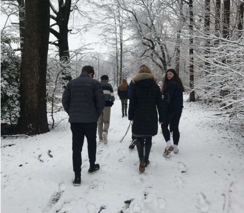 No matter the weather, silent walks are an aspect of Sheilah's classes that are always cherished.