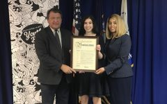 Kohn '21 receiving her proclamation when she was appointed as Westchester's first Youth Poet Laureate.