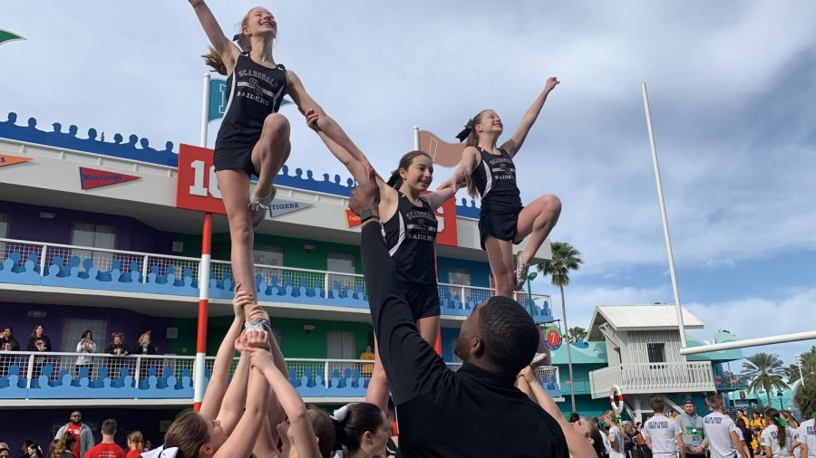 Earlier this month, Scarsdale's cheer program voyaged to Disney World in Orlando, Florida to compete in the  National High School Cheerleading Championship (UCA).