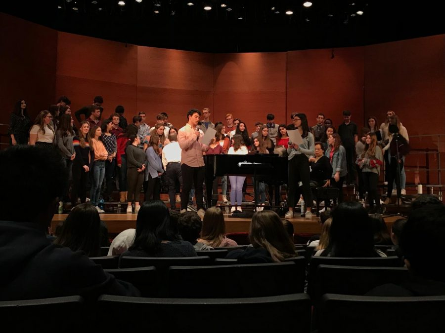 SHS Chorus Performs On Valentine's Day