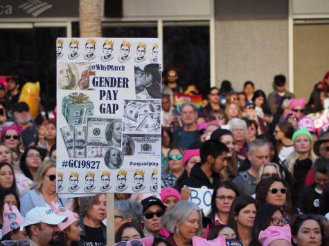 Marchers during Women's March LA 2019