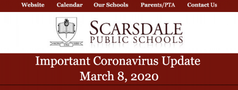 All Scarsdale schools will be closed from March 9th to at least March 18th, following the confirmation of a case of Coronavirus in a Scarsdale Middle School teacher earlier today, according to an email sent out this evening by Superintendent Dr. Thomas Hagerman.