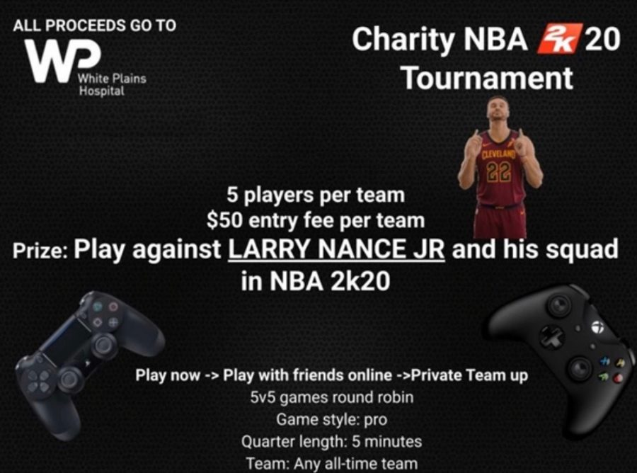 In+an+attempt+to+support+White+Plains+Hospital%2C+SHS+Juniors+Noah+Weber+and+Max+Roth+recently+launched+an+NBA+2k20+video+game+tournament.+The+tournament+is+open+to+both+Xbox+and+PS4+and+will+be+in+the+format+of+5v5+team+matchups.+Teams+can+be+any+NBA+team+they+desire%2C+and+the+tournament+is+round-robin%2C+followed+by+single-elimination.