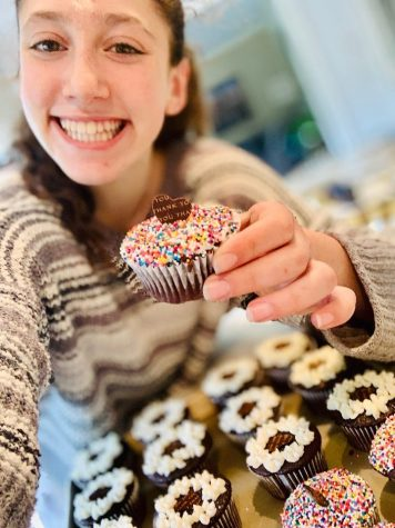 Alexandra Simon '23 makes baked goods for local businesses to thank them for staying open.
