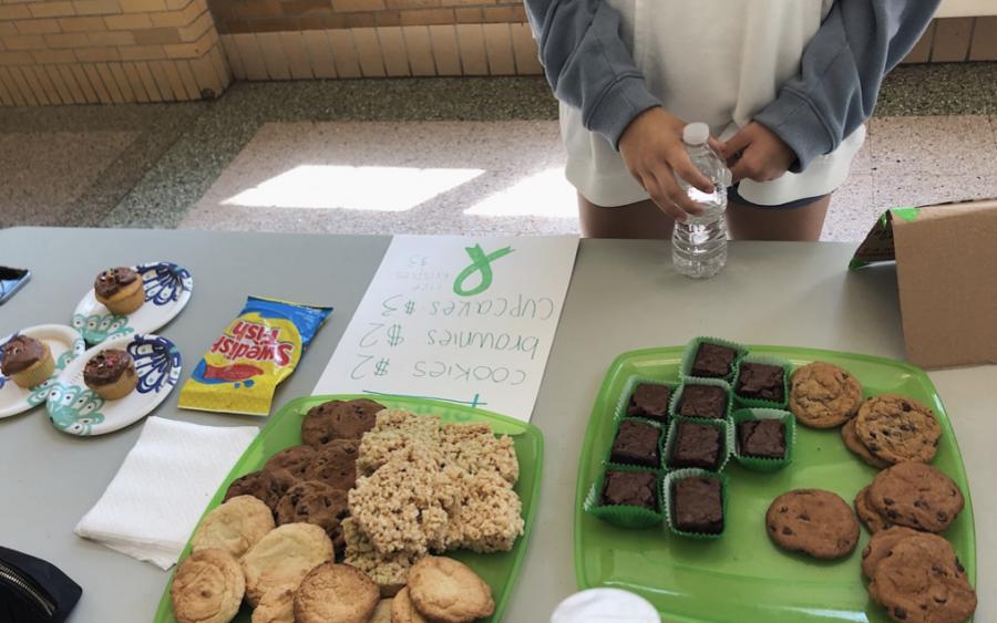 A snapshot of the Green Ribbon Club bakesale, pre coronavirus.