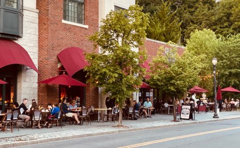Chat, a restaurant in Scarsdale village, is among many local restaurants who have started serving food outdoors.