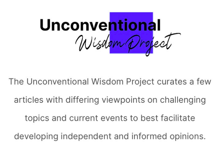 The Unconventional Wisdom Project, created by Molly Flicker