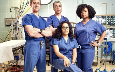 Scarsdale resident and SHS parent, Dr. John Boockvar, pictured first from the left, is the Vice Chair of Neurosurgery at Lenox Hill Hospital in Manhattan. He co-stars in the new Netflix documentary-series
