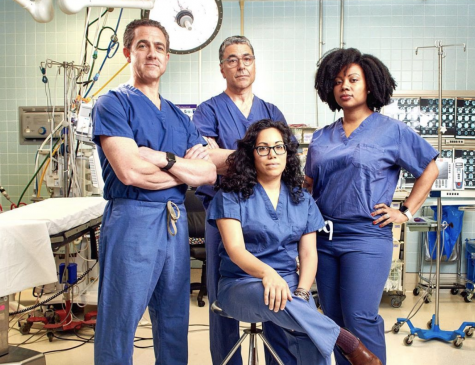 "Scarsdale resident and SHS parent, Dr. John Boockvar, pictured first from the left, is the Vice Chair of Neurosurgery at Lenox Hill Hospital in Manhattan. He co-stars in the new Netflix documentary-series ""Lenox Hill."""