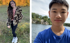 Results of the freshman class government election are released and members discuss future goals. Left is vice president Abby Underweiser and right is president Ian Zhou