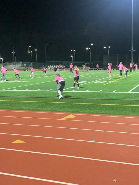 """The SHS varsity field hockey team held their annual """"pink game"""" on Tuesday, November 3rd in honor of breast cancer awareness month."""