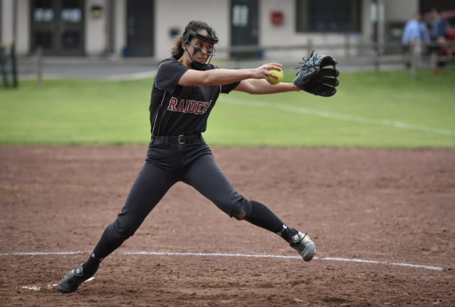SHS junior Jessica Hausman pitching at Supply Field in May of 2019.