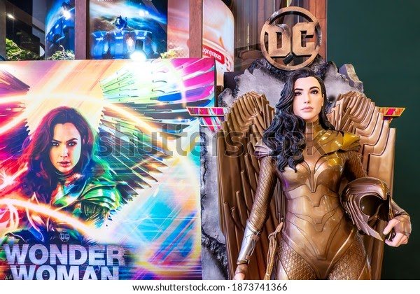 A Model of Gal Gadot as she reprises her role as the title character in Wonder Woman 1984.