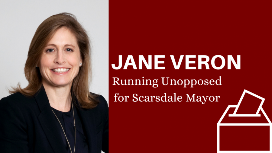 Jane Veron is running unopposed for Scarsdale mayor in the March 16 local election and has several ideas for new public policy.