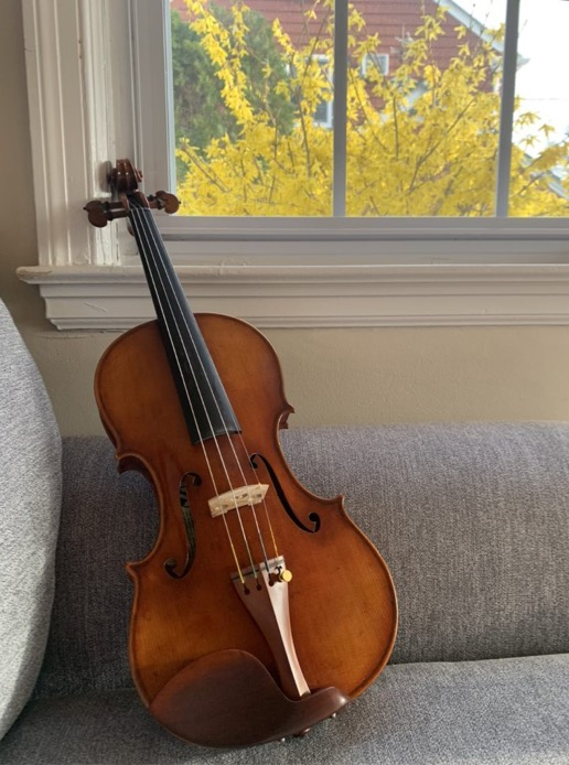 I have been spending a lot of time both playing the violin and listening to music. I hope musicians will be able to gather more safely soon!