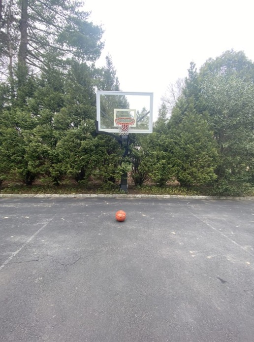 I have been playing a lot of basketball with my little brother and my friends.