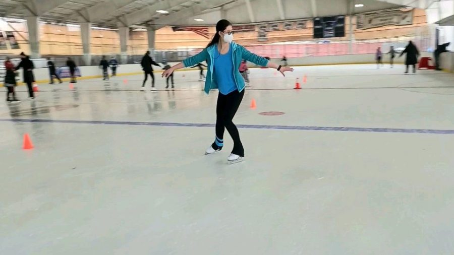 I went figure skating at Ebersole Ice Rink.