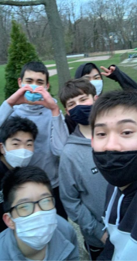 I spent time outdoors with my friends.