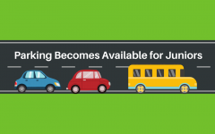 Parking at Brewster becomes available for juniors as seniors leave for senior options programs.