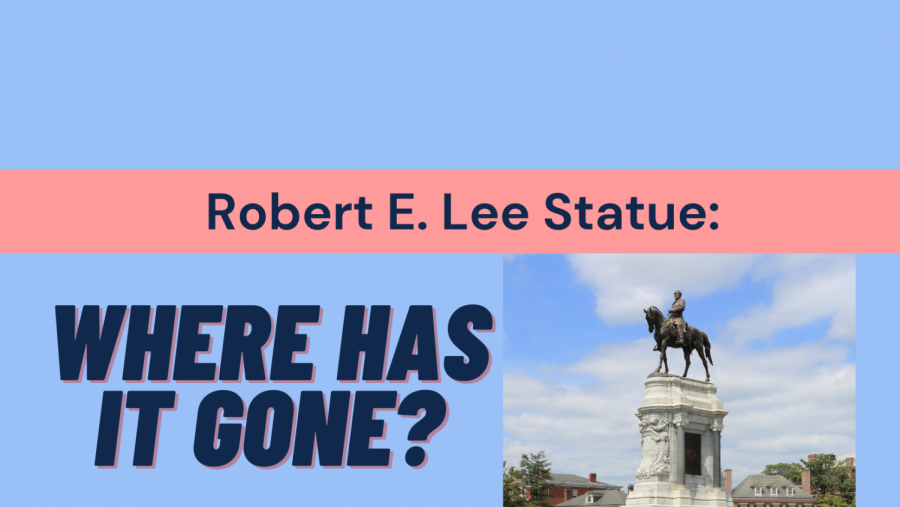 A statue of Robert E. Lee, an American general, was removed from where it once stood in Richmond, VA.