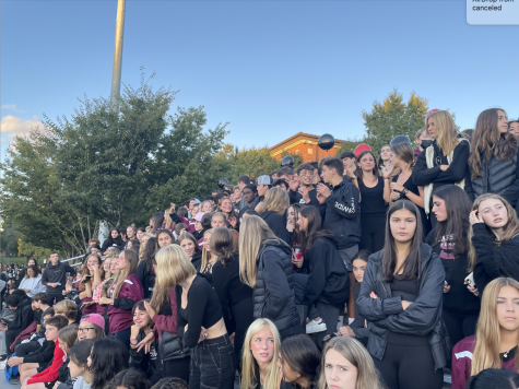 On Friday, the student section was packed with excited high schoolers as they waited for the game to begin.